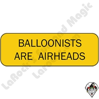 Stickers & Stuff | Pins & Buttons | Balloonists are Airheads pins