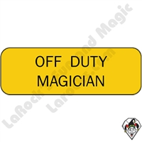 Stickers & Stuff | Pins & Buttons | Off Duty Magician pin