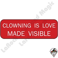 Stickers & Stuff | Pins & Buttons | Clowning Is Love Made Visible pin