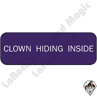 Stickers & Stuff | Pins & Buttons | Clown Hiding Inside pin