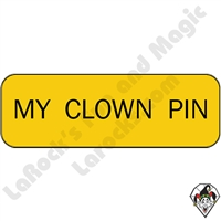 Stickers & Stuff | Pins & Buttons | My Clown Pin