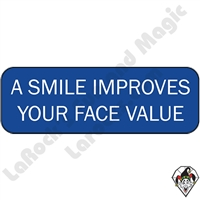 Stickers & Stuff | Pins & Buttons | Smiles Improves Your Face Value Pin