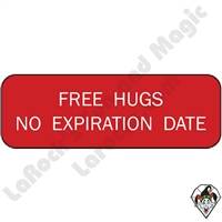 Stickers & Stuff | Pins & Buttons | Free Hugs No Expiration Date Pin