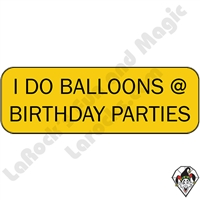 Stickers & Stuff | Pins & Buttons | I Do Balloons at Birthday Parties pin