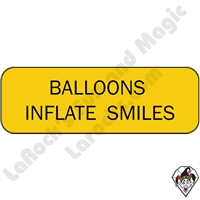Stickers & Stuff | Pins & Buttons | Balloons Inflate Smiles pins