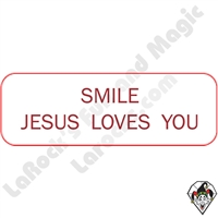 Stickers & Stuff | Pins & Buttons | Smile Jesus Loves You  Pin