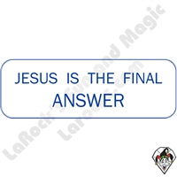 Stickers & Stuff | Pins & Buttons | Jesus Is The Final Answer Pin