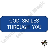 Stickers & Stuff | Pins & Buttons | God Smiles Through You Pin