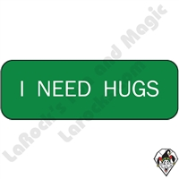 Stickers & Stuff | Pins & Buttons | I Need Hugs pin