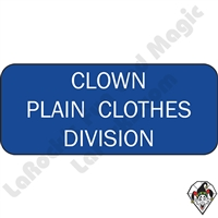 Stickers & Stuff | Pins & Buttons | Clown Plain Cloths Division pin
