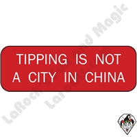 Stickers & Stuff | Pins & Buttons | Tipping is not a City in China Pin