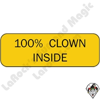 Stickers & Stuff| Pins & Buttons | 100% Clown Inside pins