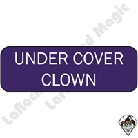 Stickers & Stuff | Pins & Buttons | Under Cover Clown Pin