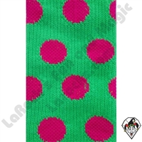 Clowning | Apparel | Clown Socks | Polka Dot Socks  | Lime green/pink dots