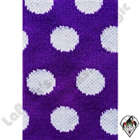 Clowning | Apparel | Clown Socks | Polka Dot Socks | Purple/white dots