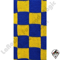 Clowning | Apparel | Clown Socks | Clown Socks Checkered | Blue & Yellow
