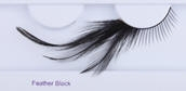 Clowning | Apparel | Eyelashes | Feather Eyelashes | Black