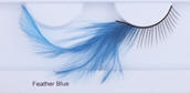 Clowning | Apparel | Eyelashes | Feather Eyelashes | Blue
