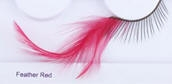 Clowning | Apparel | Eyelashes | Feather Eyelashes | Red