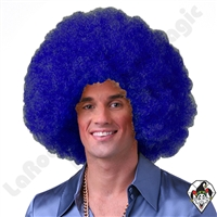 Clowning | Apparel | WIGS | Afro Clown Wigs | Blue