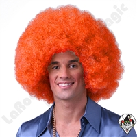 Clowning | Apparel | WIGS | Afro Clown Wigs | Orange