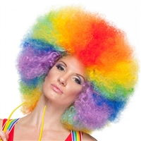 Clowning | Apparel | WIGS | Afro Clown Wigs | Multi Color