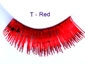 Clowning | Apparel | Eyelashes | Tinsel Eyelashes | Red