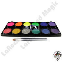 Diamond FX Palette Neon/Metallic 12 x 10 Gram Face & Body Art Paint