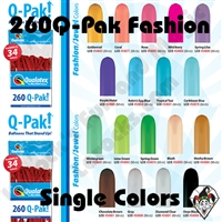 Qualatex 260Q-Pak Fashion Single Colors Balloons 50ct