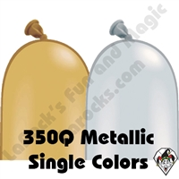 350Q Metallic Single Color Balloons Qualatex 100ct