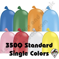 350Q Standard Single Color Balloons Qualatex 100ct