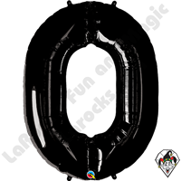 34 Inch Onyx Black Number Foil Balloon Qualatex 1ct