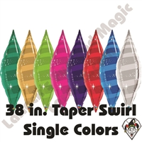 Qualatex 38 Inch Taper Swirl Foil Balloons 1ct