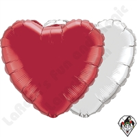 18 Inch Heart Single Color Foil Balloon