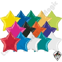 20 Inch Star Single Color Foil Balloons Qualatex