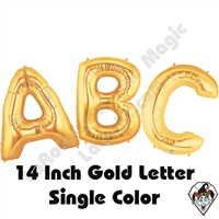 Betallatex 14 Inch Gold Letters Foil Megaloon Balloon 1ct