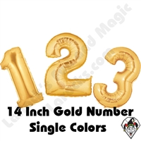 Betallatex 14 Inch Gold Numbers Foil Megaloon Balloon 1ct
