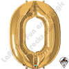 Qualatex 34 Inch Gold Number Foil Balloon 1ct