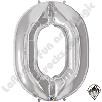 Qualatex 34 Inch Silver Number Foil Balloon 1ct