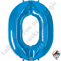 34 Inch Sapphire Blue Number Foil Balloon Qualatex 1ct