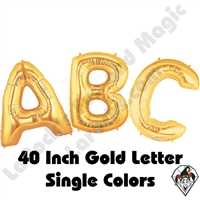 Betallatex 40 Inch Gold Letters Foil Megaloon Balloon 1ct