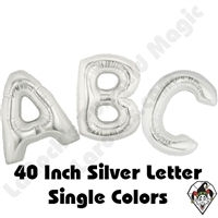 Betallatex 40 Inch Silver Letters Foil Megaloon Balloon 1ct