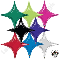 20 Inch Starpoint Single Color Foil Balloons Qualatex