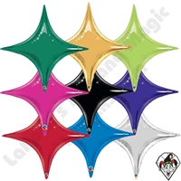 40 Inch Starpoint Single Color Foil Balloons Qualatex