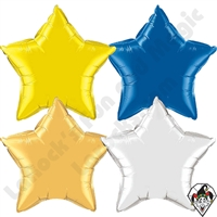 36 Inch Star Single Color Foil Balloons Qualatex