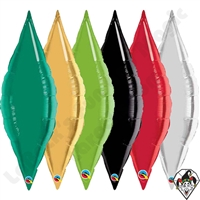 13 Inch Taper Single Color Foil Balloons Qualatex