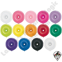 16 Inch Donut Single Color Balloons Qualatex 25ct