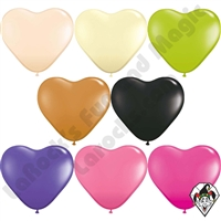 Qualatex 6 Inch Heart Fashion Single Color Balloons 100ct