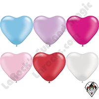 Qualatex 6 Inch Heart Pearl Single Color Balloons 100ct