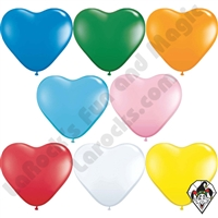 Qualatex 6 Inch Heart Standard Single Color Balloons 100ct